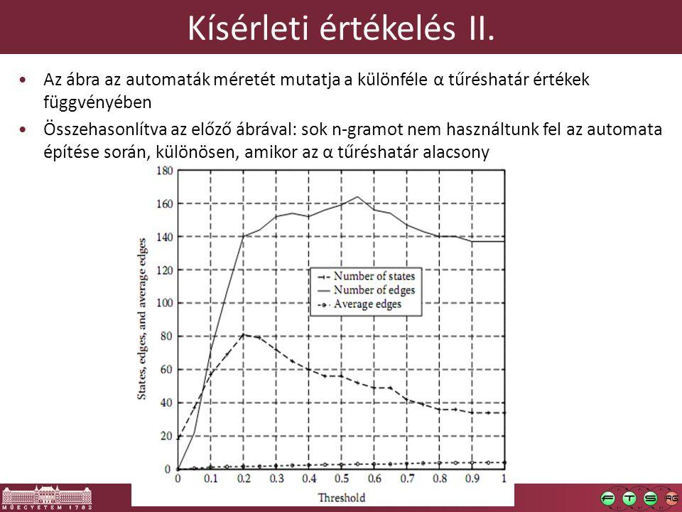 Kísérleti értékelés II.