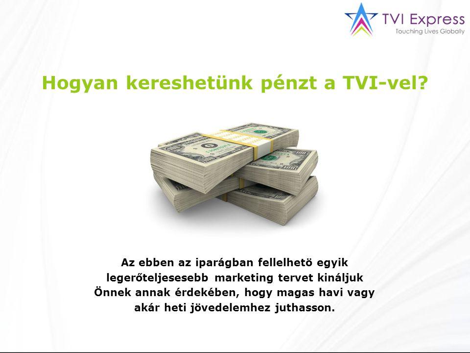 Hogyan kereshetünk pénzt a TVI-vel.
