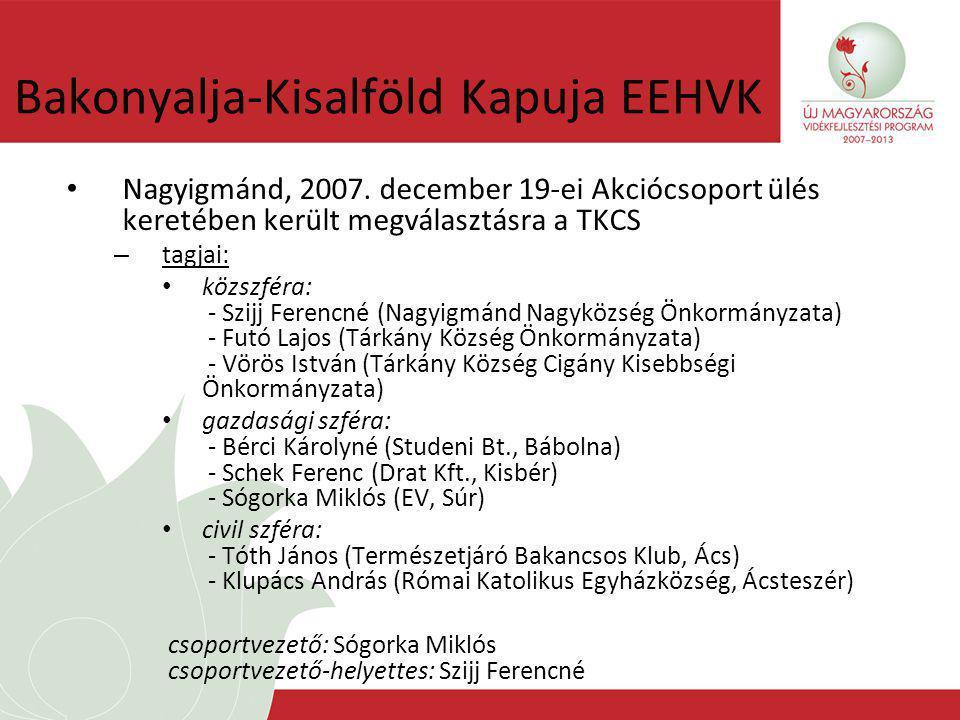 Bakonyalja-Kisalföld Kapuja EEHVK Nagyigmánd, 2007.