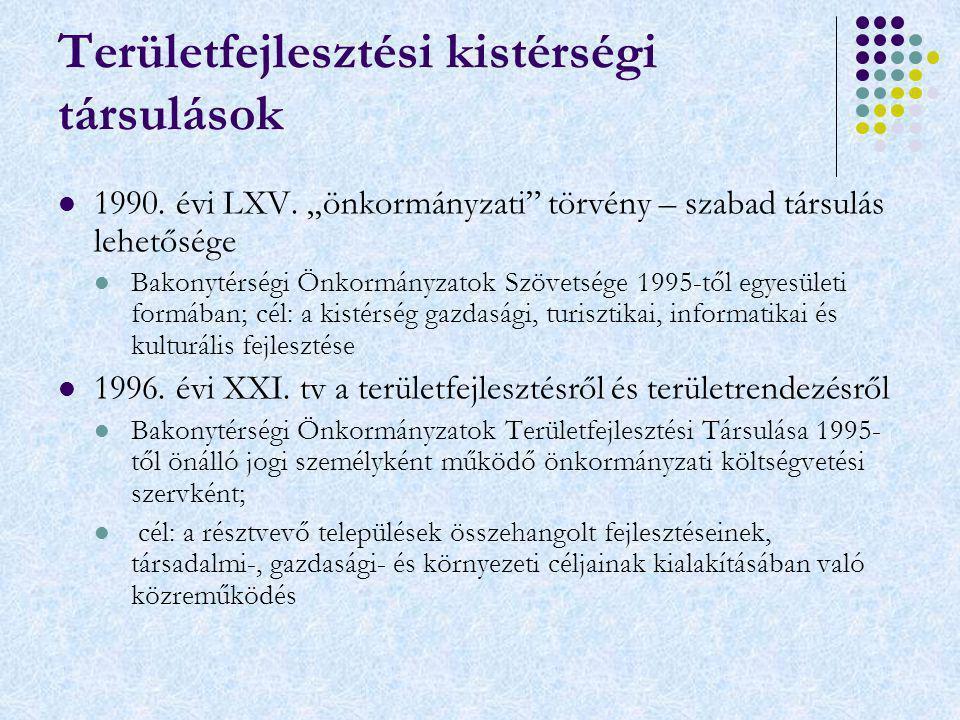 Többcélú Kistérségi Társulás Kisbéri Többcélú Kistérségi Társulás 2004-től - települési önkormányzatok többcélú kistérségi társulásáról szóló 2004.