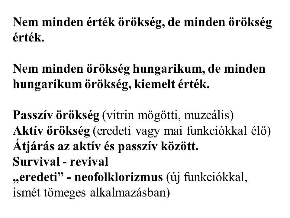 A kiemelkedő, kirakatba tehető magyar értékek felmérését, gondozását, köztudatba juttatását, segítését célozza a Magyar ÉrtékTár, Hungarikum törvény.