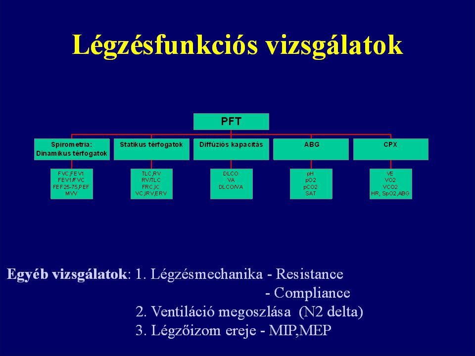 Diffúziós kapacitás (DLCO, DLCO/VA, Tco, Kco)