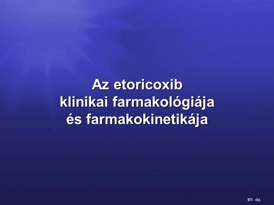 II/1. dia Az etoricoxib klinikai farmakológiája és farmakokinetikája