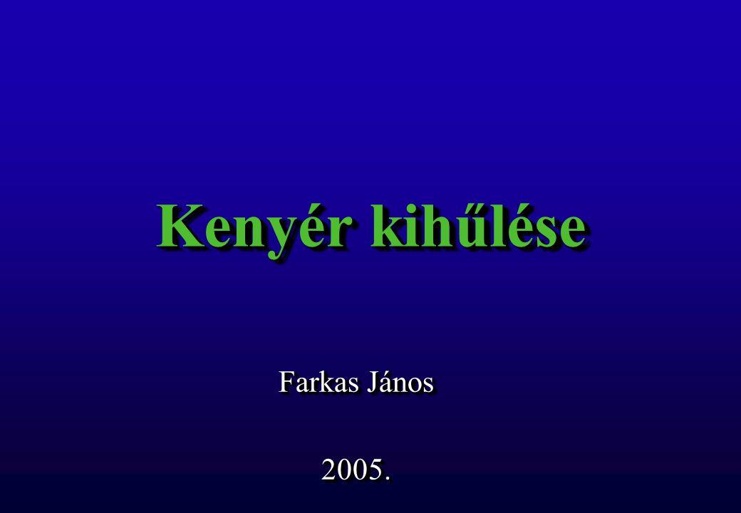 Kenyér kihűlése Farkas János 2005. 2005.