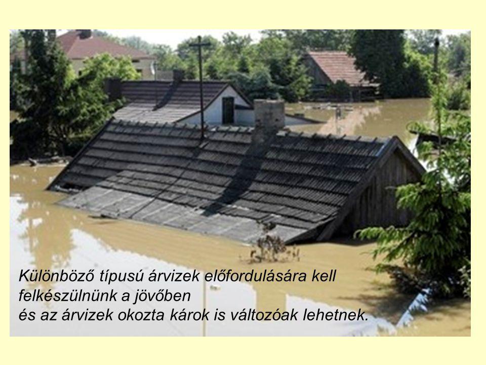 Különböző típusú árvizek előfordulására kell felkészülnünk a jövőben és az árvizek okozta károk is változóak lehetnek.