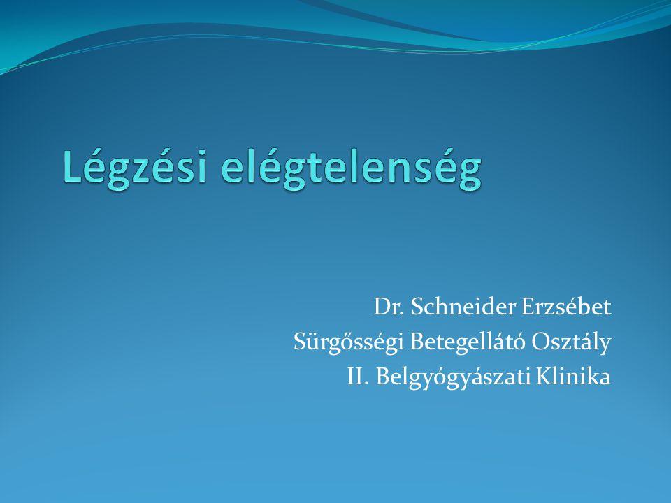 Dr. Schneider Erzsébet Sürgősségi Betegellátó Osztály II. Belgyógyászati Klinika