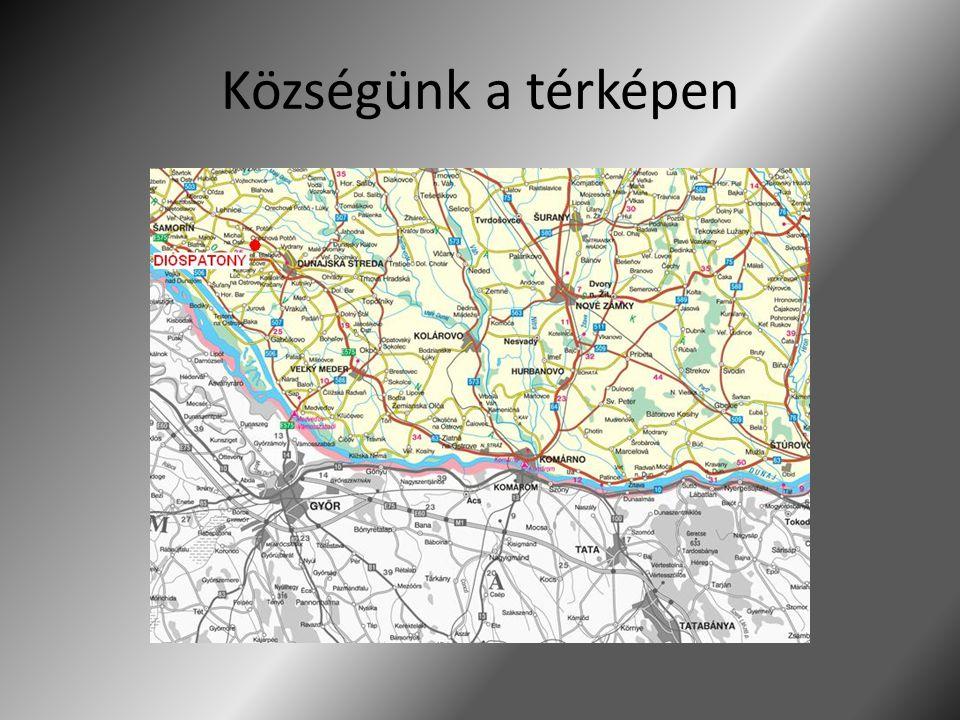 Községünk a térképen