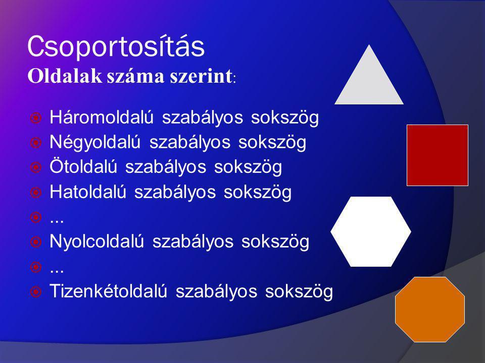 A szabályos sokszög olyan sokszög, amelynek minden oldala és minden belső szöge egyenlő. A nem-konvex szabályos sokszögeket csillagsokszögnek nevezzük