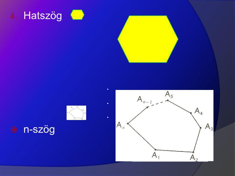 Belső szögekKülső szögek ? 180 o A külső szögek összege 360 o.