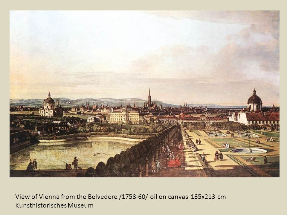 View of Vienna from the Belvedere /1758-60/ oil on canvas 135x213 cm Kunsthistorisches Museum