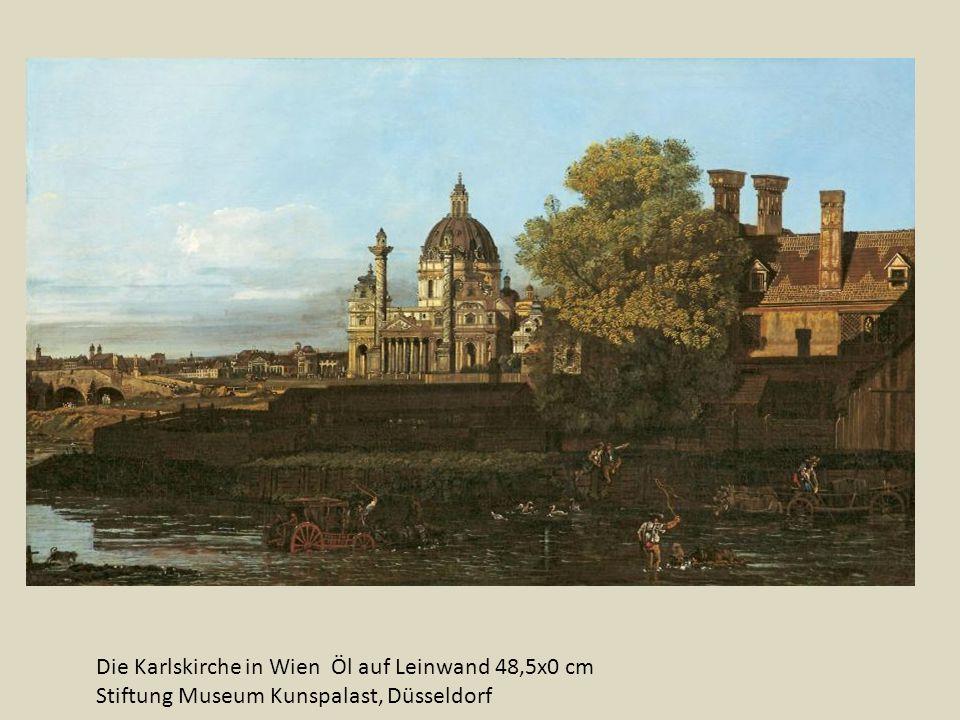 Die Karlskirche in Wien Öl auf Leinwand 48,5x0 cm Stiftung Museum Kunspalast, Düsseldorf