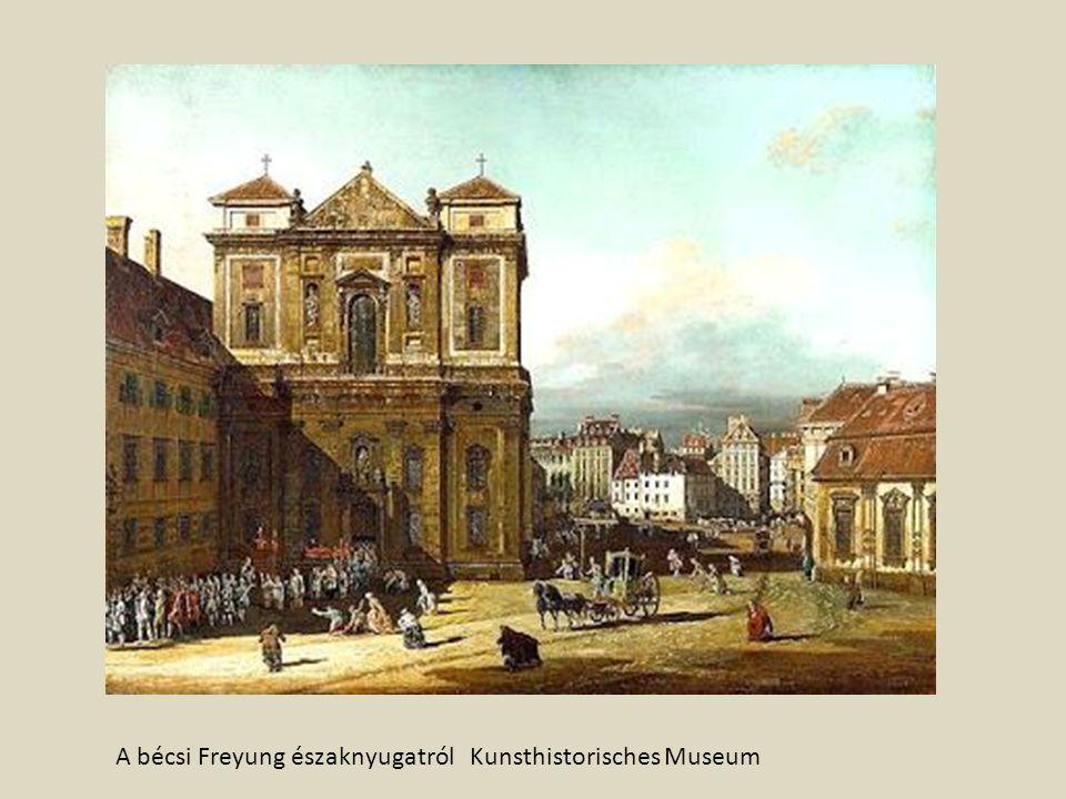 A bécsi Freyung északnyugatról Kunsthistorisches Museum
