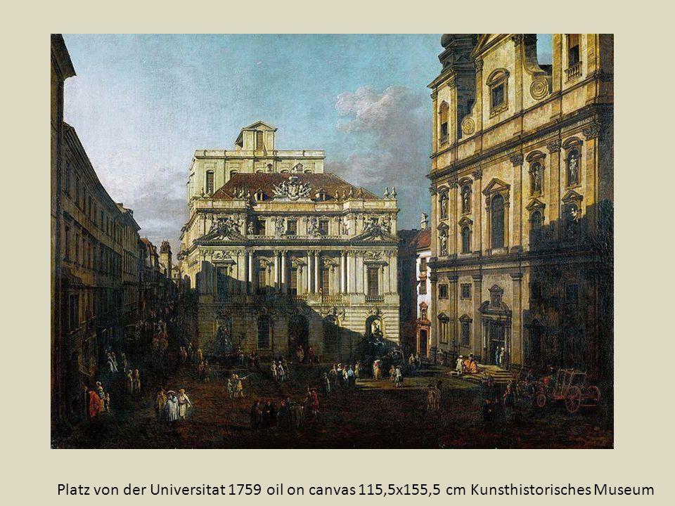 Platz von der Universitat 1759 oil on canvas 115,5x155,5 cm Kunsthistorisches Museum