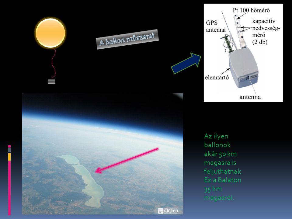 Az ilyen ballonok akár 50 km magasra is feljuthatnak. Ez a Balaton 35 km magasról.