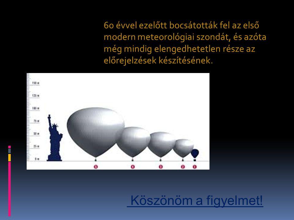60 évvel ezelőtt bocsátották fel az első modern meteorológiai szondát, és azóta még mindig elengedhetetlen része az előrejelzések készítésének. Köszön