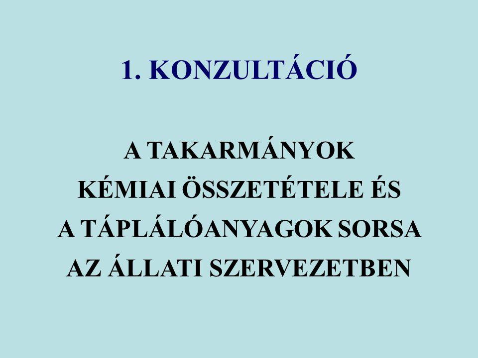 ÁSVÁNYIANYAGOK CSOPORTOSÍTÁSA II.Funkciójuk alapján 1.
