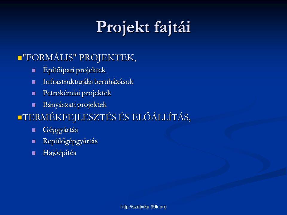 Projekt fajtái