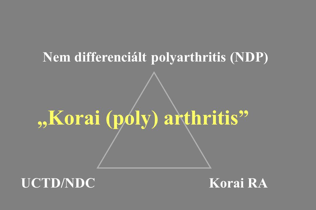 """Nem differenciált polyarthritis (NDP) UCTD/NDCKorai RA """"Korai (poly) arthritis"""""""