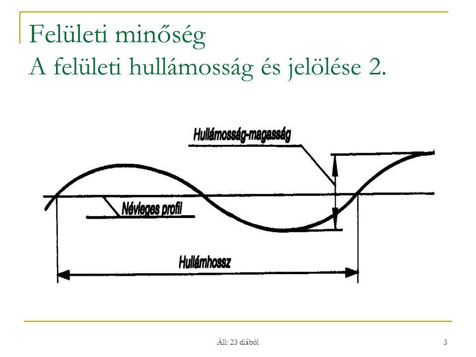 Áll: 23 diából 3 Felületi minőség A felületi hullámosság és jelölése 2.