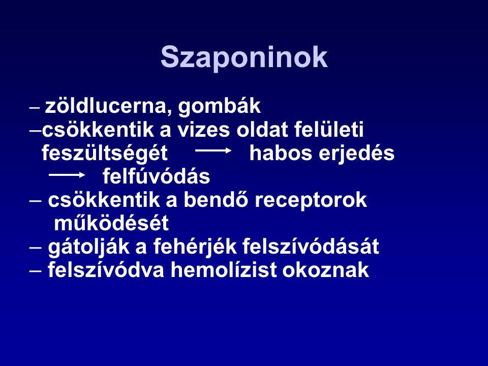 Zearalenon (ZON), F-2 toxin Termelik: –a fuzárium fajok (F.