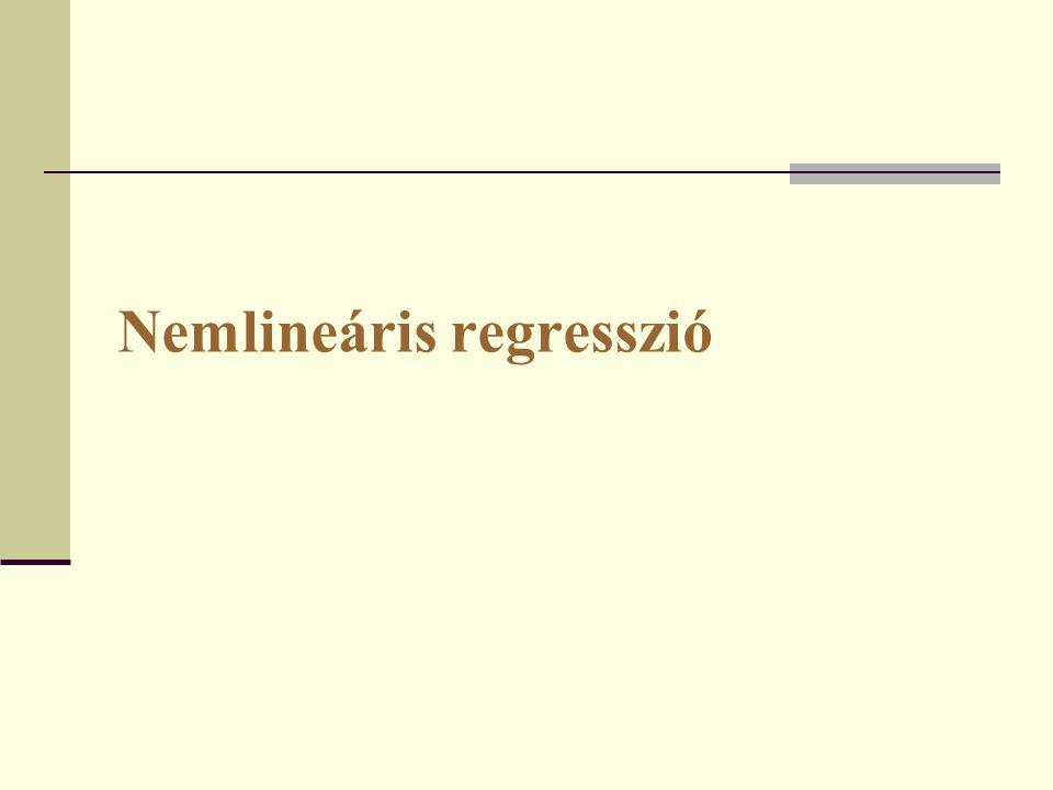 Nemlineáris regresszió