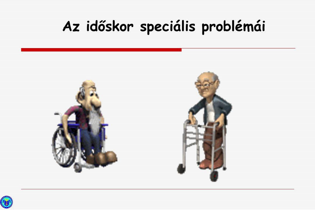 Dementia Cognitive impairment YEARS Az időskor speciális problémái