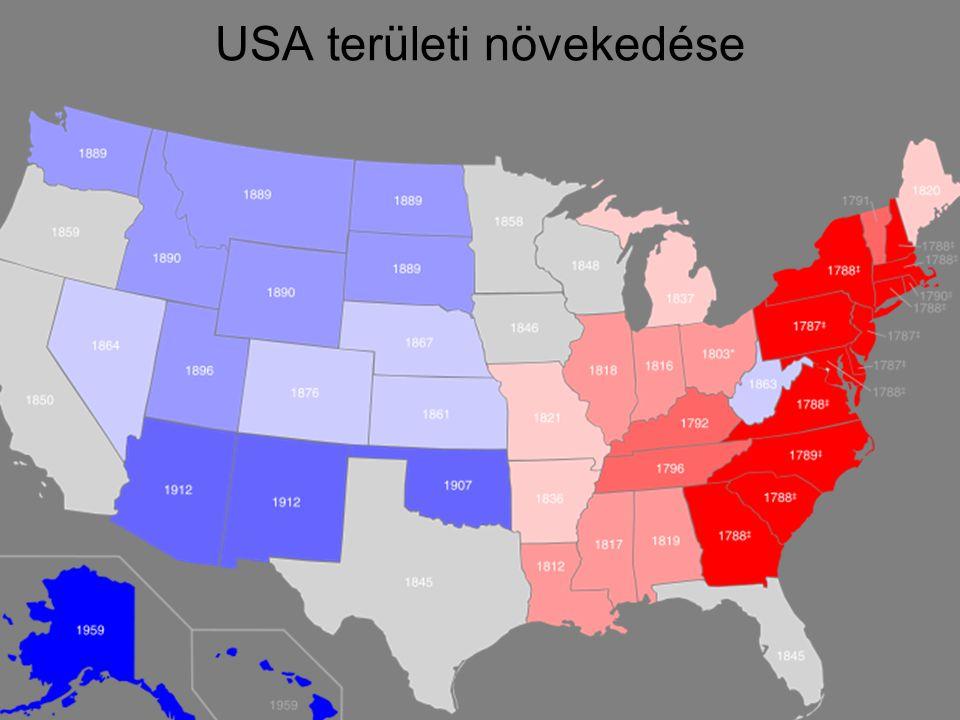 USA területi növekedése