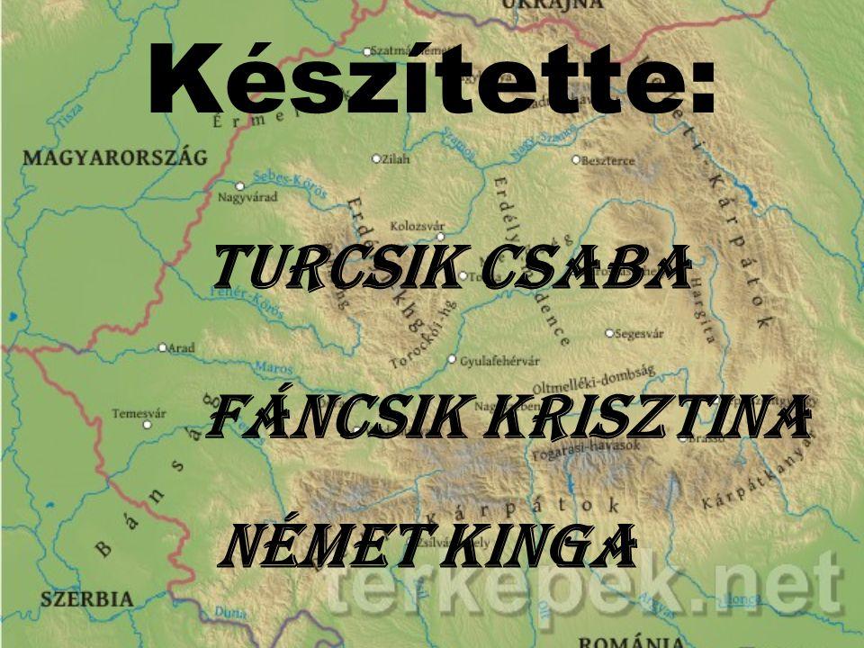 Készítette: Turcsik Csaba Fáncsik Krisztina Német Kinga