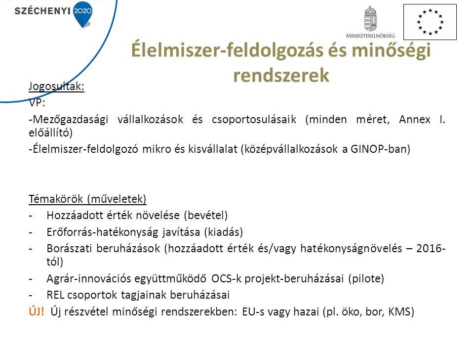 Rövid ellátási lánc A cél: közös piacra jutás megszervezése, előnyeinek együttes kihasználása (pl.