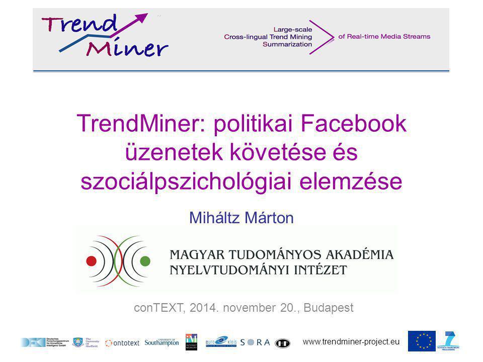 www.trendminer-project.eu conTEXT, 2014.