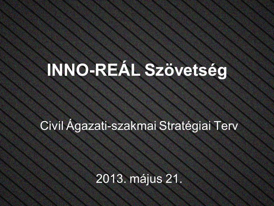 INNO-REÁL Szövetség Civil Ágazati-szakmai Stratégiai Terv 2013. május 21.