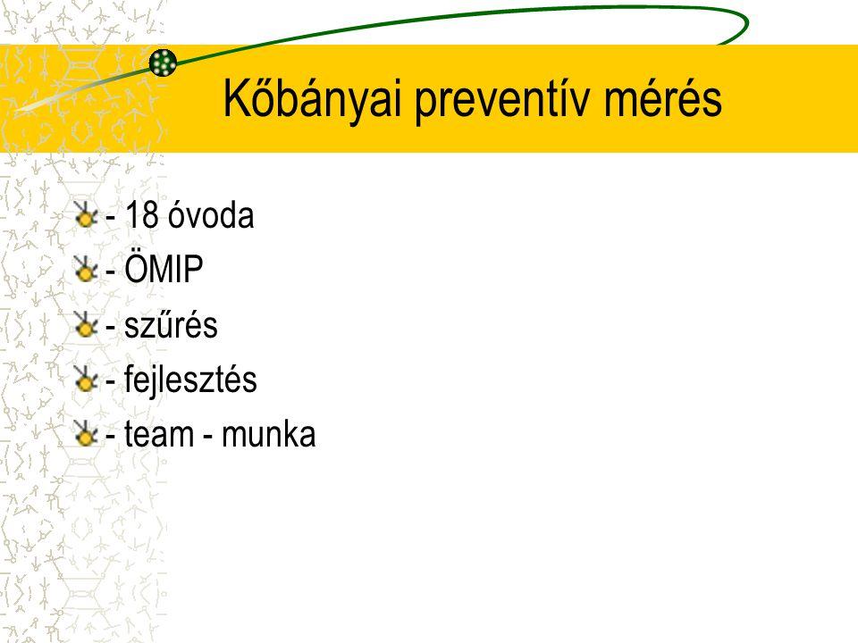 Kőbányai preventív mérés - 18 óvoda - ÖMIP - szűrés - fejlesztés - team - munka
