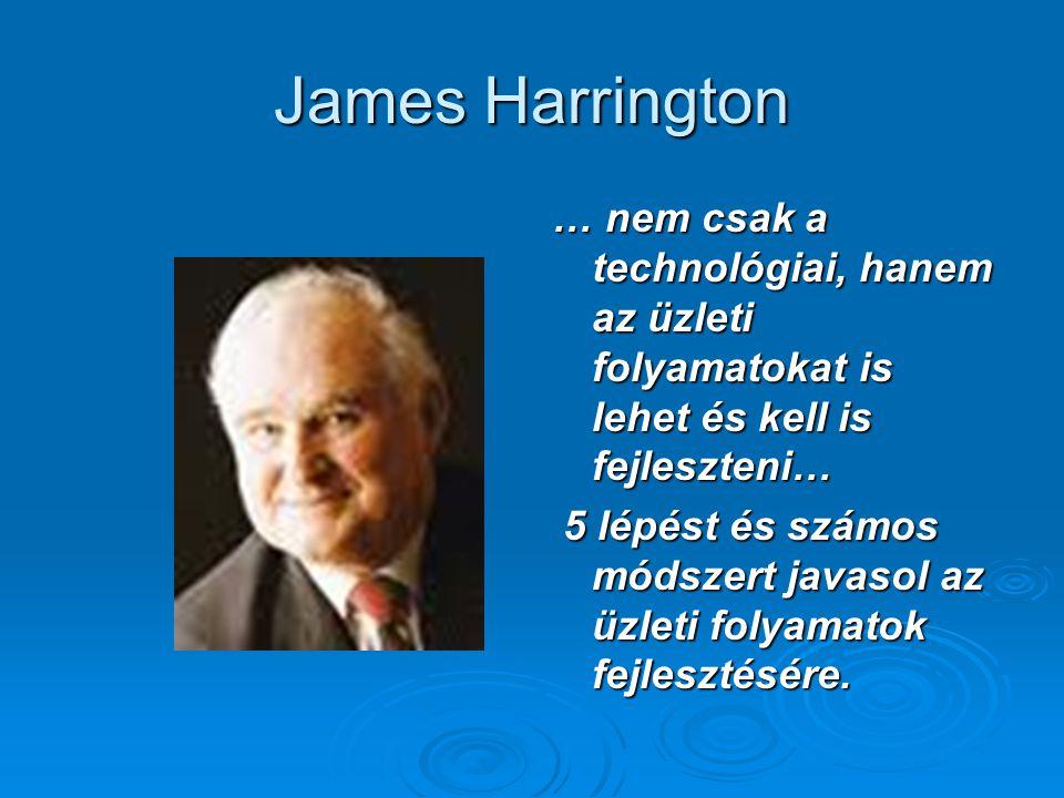 James Harrington … nem csak a technológiai, hanem az üzleti folyamatokat is lehet és kell is fejleszteni… 5 lépést és számos módszert javasol az üzlet