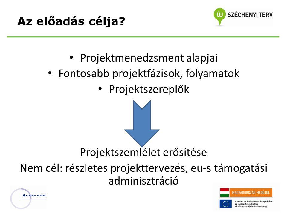 Témák? Projekt és projektmenedzsment Projektmenedzser Projektciklus Projektfázisok