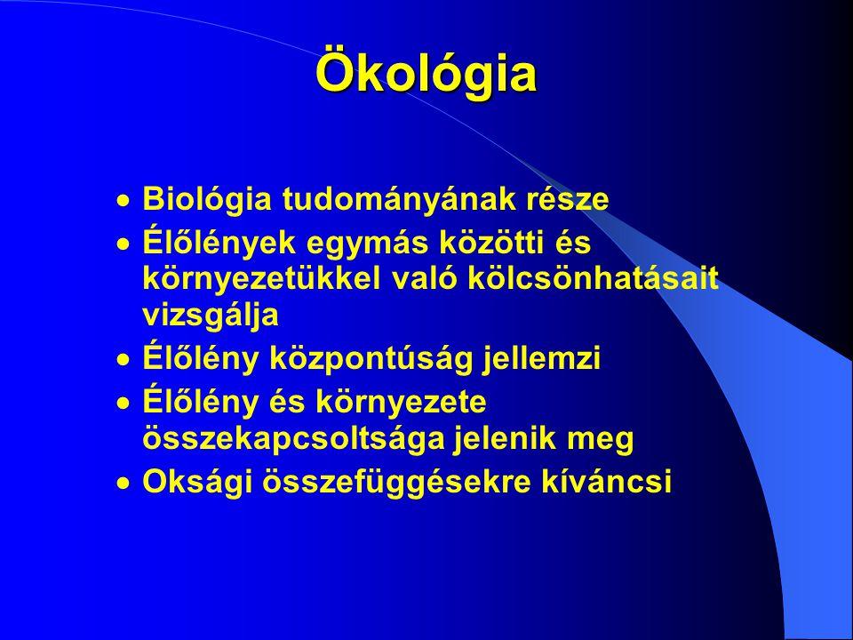 Szerveződési szintek szervezet populáció életközösség bioszféra molekuláris sejt szövet szerv INFRAINDIVIDUÁLIS INDIVIDUÁLIS SZUPRAINDIVIDUÁLIS