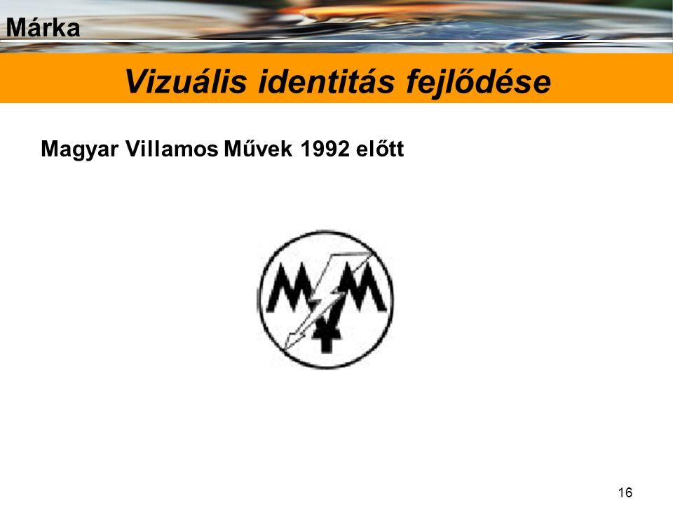 Márka 16 Vizuális identitás fejlődése Magyar Villamos Művek 1992 előtt