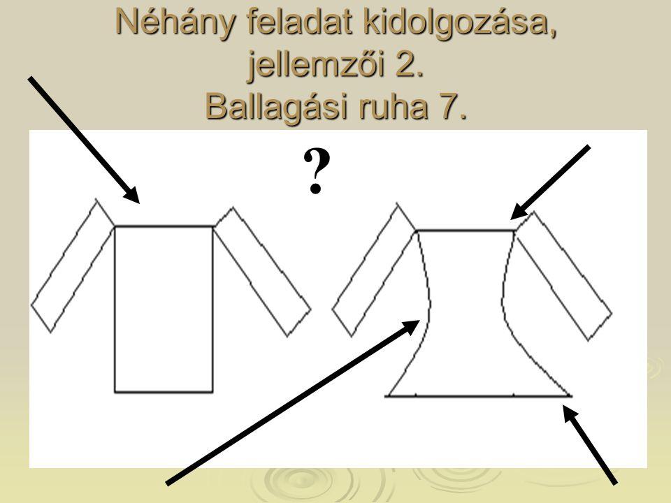 Néhány feladat kidolgozása, jellemzői 2. Ballagási ruha 7. ?