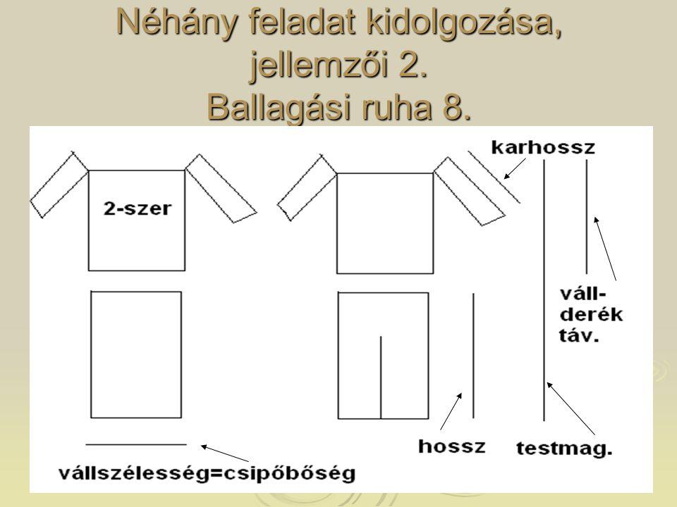 Néhány feladat kidolgozása, jellemzői 2. Ballagási ruha 8.