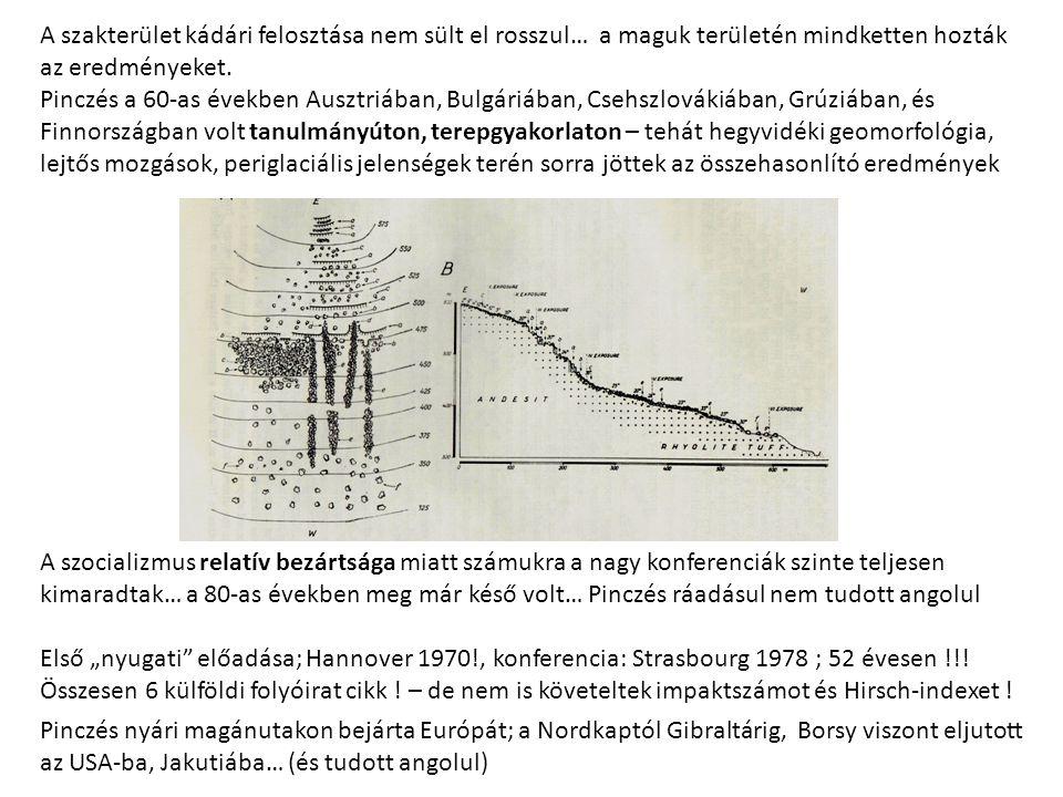 A szakterület kádári felosztása nem sült el rosszul… a maguk területén mindketten hozták az eredményeket. Pinczés a 60-as években Ausztriában, Bulgári
