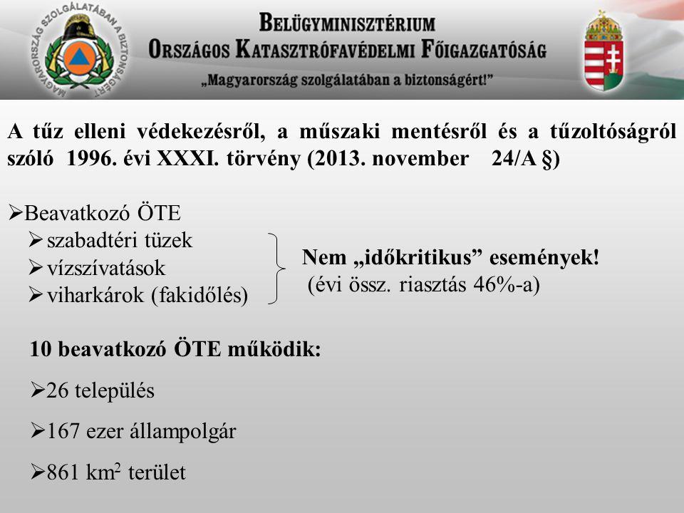 A tűz elleni védekezésről, a műszaki mentésről és a tűzoltóságról szóló 1996. évi XXXI. törvény (2013. november 24/A §)  Beavatkozó ÖTE  szabadtéri