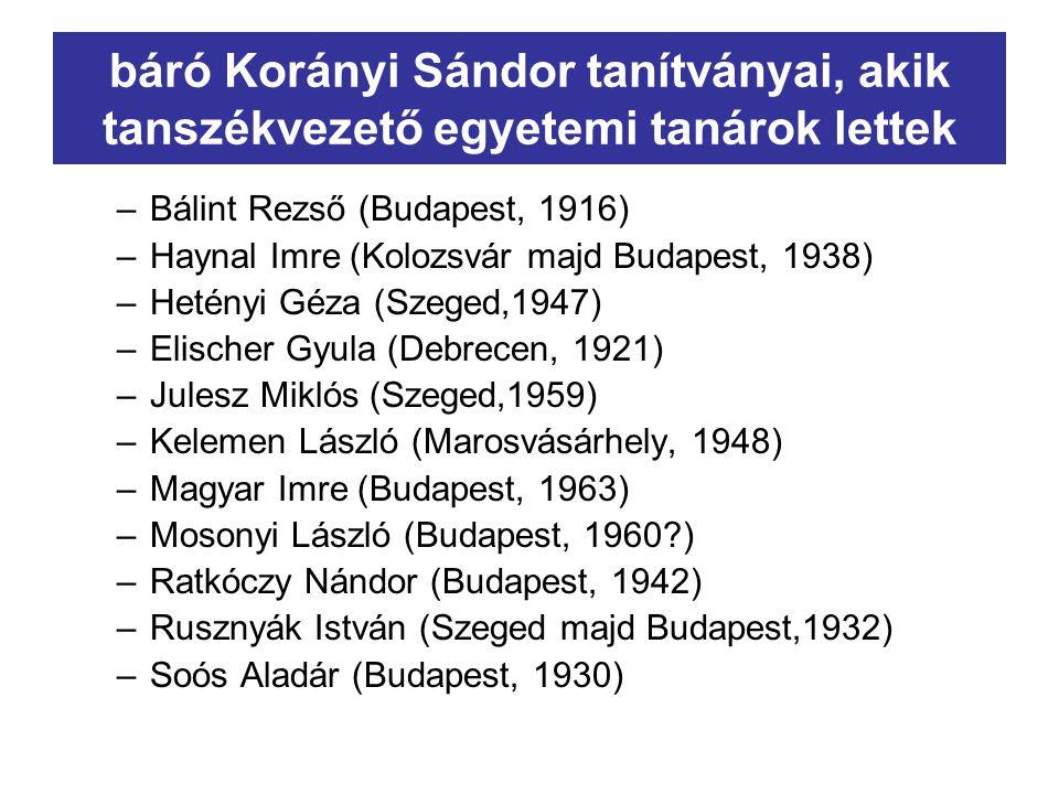 báró Korányi Frigyes (1828-1913) + Bónis Malvin Korányi(Kornfeld) Sebald (1800-1885) + Kandel Anna Bónis Sámuel (Kossuth országos biztosa) + Darvas Erzsébet Bónis Ferenc (I.