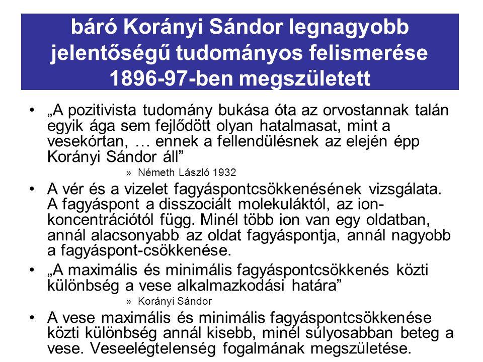 """báró Korányi Sándor tudományos zsenialitásának titka """" Nincs véletlen felfedezés."""