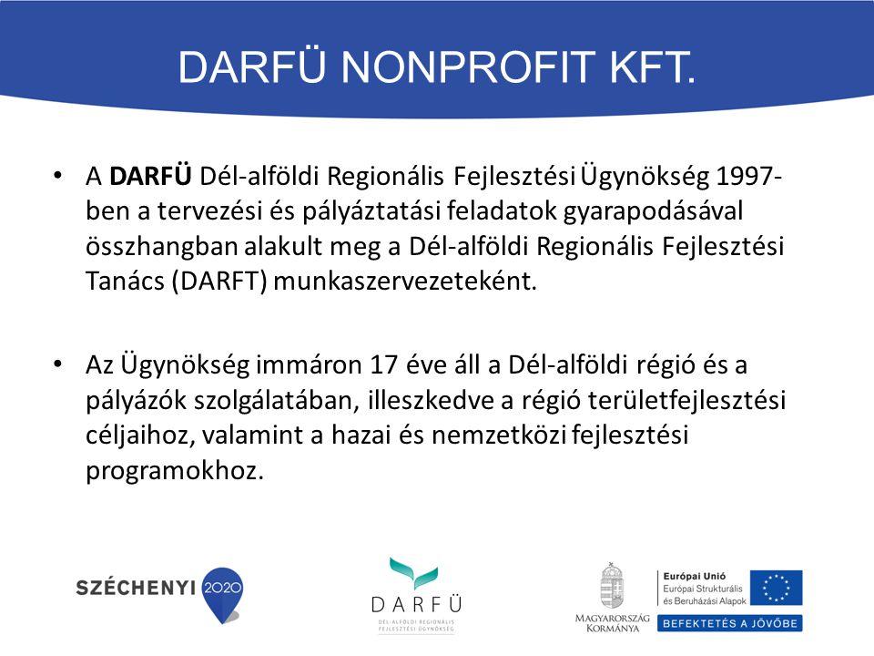 A DARFÜ Dél-alföldi Regionális Fejlesztési Ügynökség 1997- ben a tervezési és pályáztatási feladatok gyarapodásával összhangban alakult meg a Dél-alföldi Regionális Fejlesztési Tanács (DARFT) munkaszervezeteként.