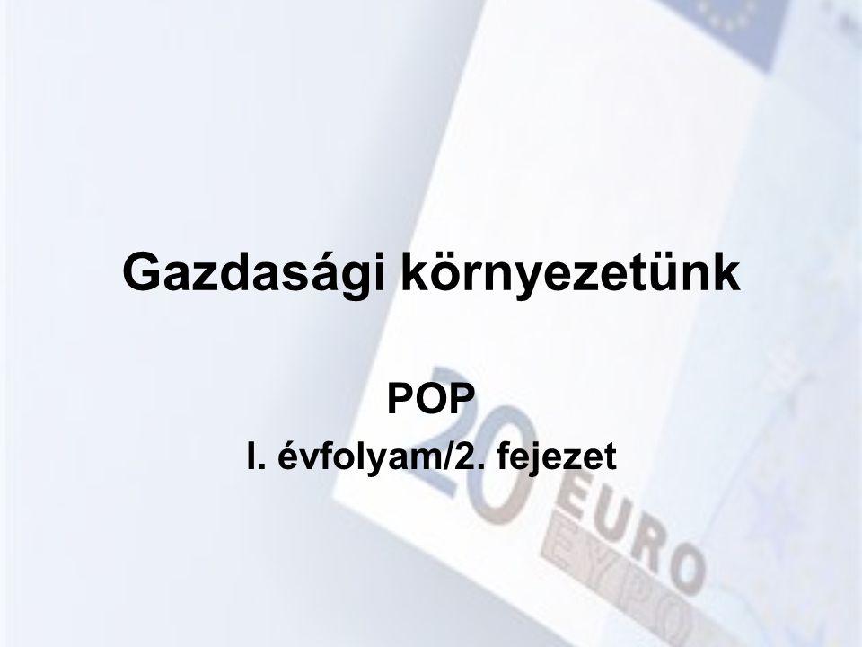 Gazdasági környezetünk POP I. évfolyam/2. fejezet