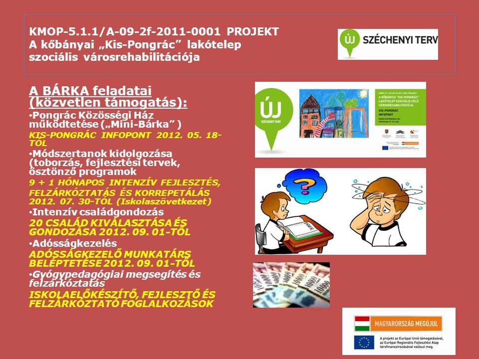 """KMOP-5.1.1/A-09-2f-2011-0001 PROJEKT A kőbányai """"Kis-Pongrác"""" lakótelep szociális városrehabilitációja A BÁRKA feladatai (közvetlen támogatás): Pongrá"""