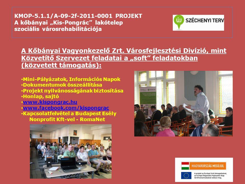 """KMOP-5.1.1/A-09-2f-2011-0001 PROJEKT A kőbányai """"Kis-Pongrác"""" lakótelep szociális városrehabilitációja A Kőbányai Vagyonkezelő Zrt. Városfejlesztési D"""