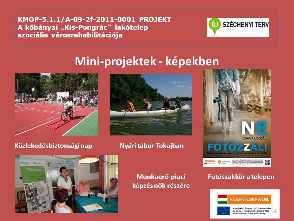 """KMOP-5.1.1/A-09-2f-2011-0001 PROJEKT A kőbányai """"Kis-Pongrác"""" lakótelep szociális városrehabilitációja Mini-projektek - képekben 14 Közlekedésbiztonsá"""