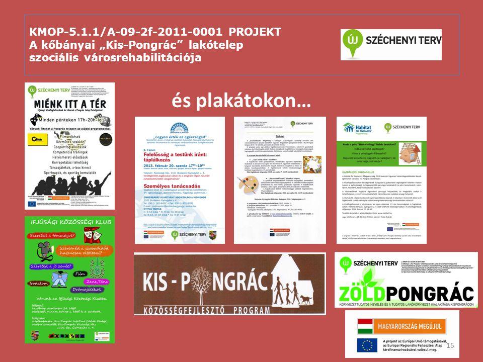 """KMOP-5.1.1/A-09-2f-2011-0001 PROJEKT A kőbányai """"Kis-Pongrác"""" lakótelep szociális városrehabilitációja és plakátokon… 15"""