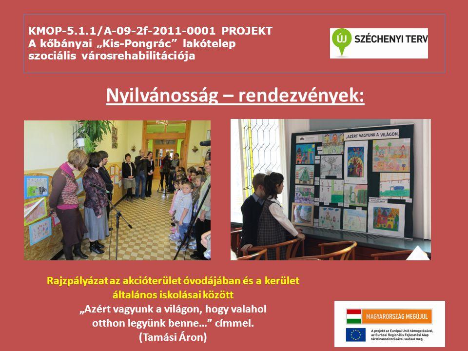 """KMOP-5.1.1/A-09-2f-2011-0001 PROJEKT A kőbányai """"Kis-Pongrác"""" lakótelep szociális városrehabilitációja Nyilvánosság – rendezvények: Rajzpályázat az ak"""