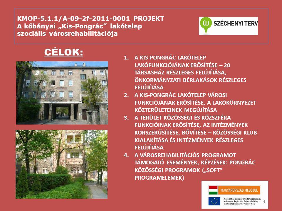 """KMOP-5.1.1/A-09-2f-2011-0001 PROJEKT A kőbányai """"Kis-Pongrác lakótelep szociális városrehabilitációja Fő kedvezményzett: Budapest Főváros X."""